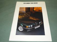 "BMW ""DIE BMW 7ER-REIHE"" German Text brochure 1990"